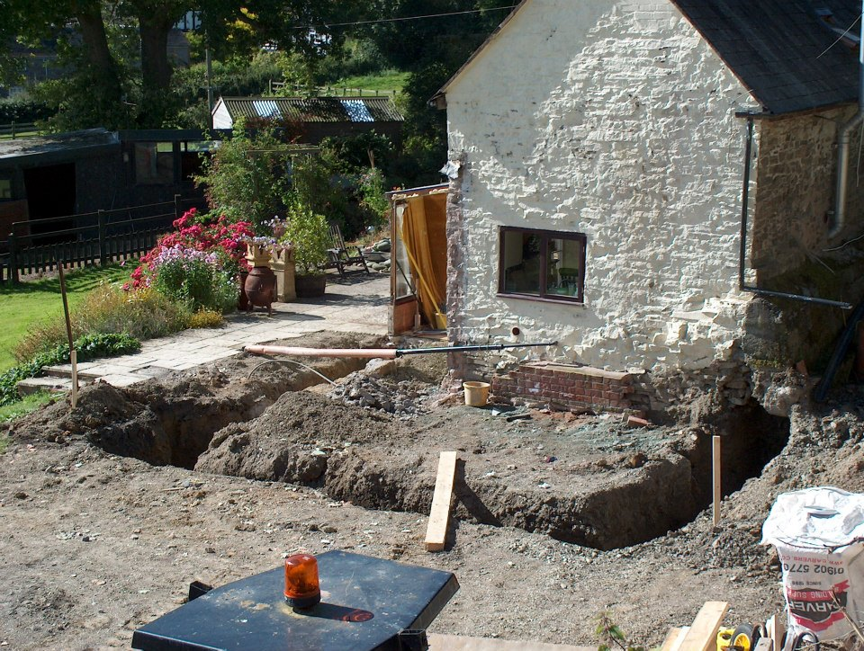Footings dug and awaiting concrete. — at Bentlawnt