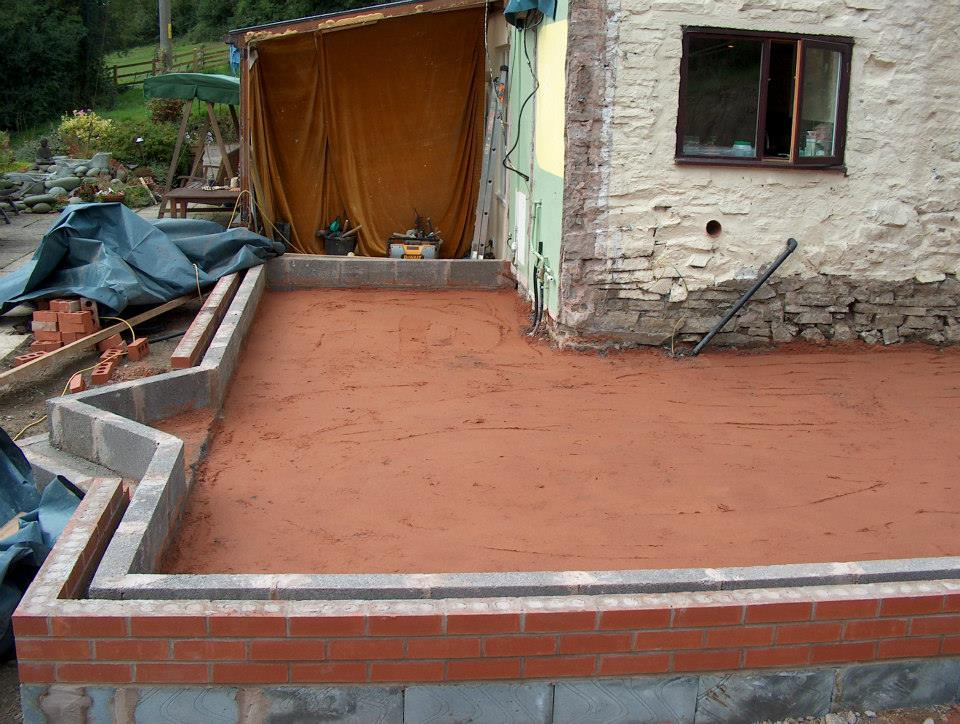 Groundworks completed ready for casting floor slab. — at Bentlawnt