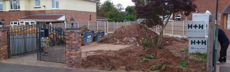 Groundworks near Albrighton